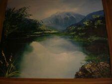 Rare Art Wally Young Waikiki Beach Boy Surfer Artist Hawaii Oil Painting Signed