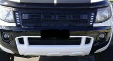 Matte Black Front Net Grille With LED For Ford Ranger T6 PX1 MK1 2012 13 14 15