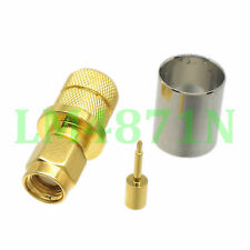 1pce Connector SMA male plug crimp RG8 RG213 LMR400 RG214 cable straight