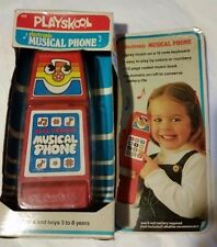 RARE Vintage 1985 Red Playskool Electronic Musical Phone Telephone Toy in BOX !!