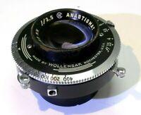 Wollensak Anastigmat 85mm f/3.5  lens in Rapax shutter TLR  medium format