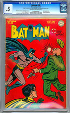 BATMAN #28 CGC 0.5 FROM THE CERTIFIED PRIVATE COLLECTION OF JERRY ROBINSON 1945