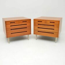 PAIR OF RETRO MAHOGANY CHEST OF DRAWERS BY EDWARD WORMLEY FOR DUNBAR