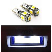 2 AMPOULES W5W LED ECLAIRAGE PLAQUE VEILLEUSE T10 BLANC XENON CANBUS