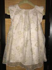 BabyGap Blush Tulle Gold Metallic Flower Dress & Bloomers - Size 18-24 M - NEW