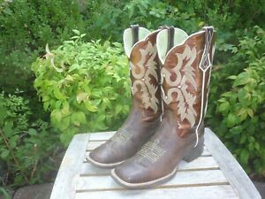 Women's 6.5 M B Ariat Tombstone Chocolate Brown Western Cowboy Boots 10005867