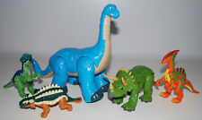 Imaginext Dinosaur Toy Lot Fisher Price Long Neck Triceratops Poseable Dinos