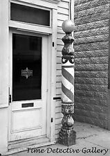 A Patriotic Barber Pole, Williston, North Dakota - 1937 - Historic Photo Print