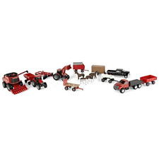 Ertl Case Ih Farm Toy Value Playset with Tractors, Trucks, Farm Implements and