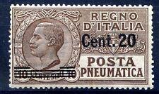 REGNO POSTA PNEUMATICA 1924 - Centesimi 20 su 10   Nuovo **
