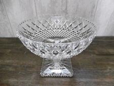 Grande Coupe sur pied en cristal de Bohème D.25cm Ht.19,5cm / Verre Table Déco