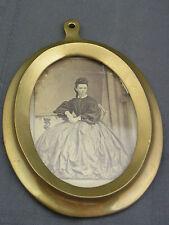 schöner kleiner Bilderrahmen Messing ca. um 1880