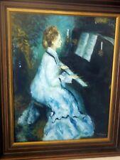 """Orig. Ölgemälde  """"Junge Frau"""" am Piano Sig. Kollmann - im Historismusstil 20 Jhd"""