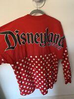 Disney Parks Disneyland Women's Minnie Mouse Polka Dot Spirit Jersey Small