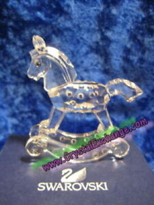Swarovski Crystal Rocking Horse 183270.  Retired 2004.  MIB+COA