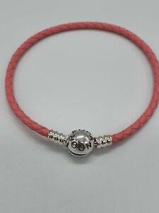 Sterling Silber Pandora Rosa Leder Armband 19cm