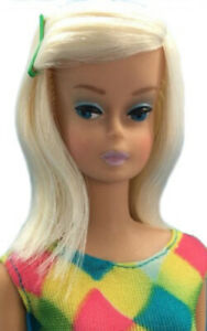 Beautiful vintage Platinum Color Magic Sidepart Barbie Doll OOAK bendable legs