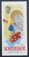 Brochure dépliant touristique HOTEL LORUNSER ZURS ARLBERG AUTRICHE