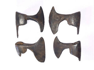 Lot of four Tom halk antique axe head hand forged long tail