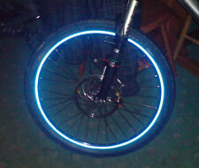 "REFLECTIVE CYCLE bike WHEEL RIM TAPE/STICKERS 15-20""  7 COLOURS"