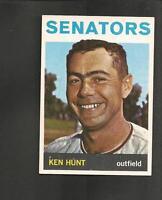 3901* 1964 Topps # 294 Ken Hunt Ex-Mt