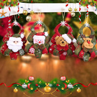 Christmas Ornaments Santa Claus Snowman Bear Doll Pendant For Xmas Tree Hanging
