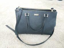 KATE SPADE NY Black Newbury Lane Cadene Saffiano Leather Tote Crossbody Bag