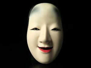 Japanese Handmade WAKAONNA mask noh kyougen kagura demon mask bugaku