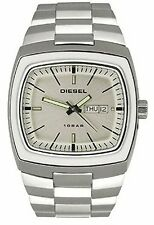 diesel watch mens dz-4063 340511 white stainless day date heavy big wr