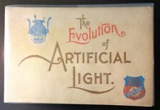 RARE 1893 Book THE EVOLUTION of ARTIFICIAL LIGHT Union Pacific Train RR Overland