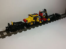 LEGO CUSTOM TRAIN 9V HEAVY DUTY WAGON WITH STAPLER & STREET SWEEPER 18 INCH LONG