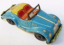 "1950's MG TF CONVERTIBLE tin litho 4.25"" friction car JAPAN"