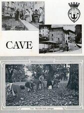 CAVE ( Roma ) - lotto di 2 cartoline non viaggiate