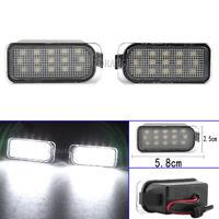 2 LED License Plate Light Lamp For Ford Ecosport Fiesta Focus Mondeo Ranger Kuga