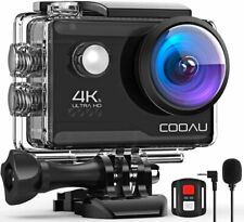 COOAU 4K 20MP Wi-Fi Action Sport Camera External Microphone Remote Control EIS