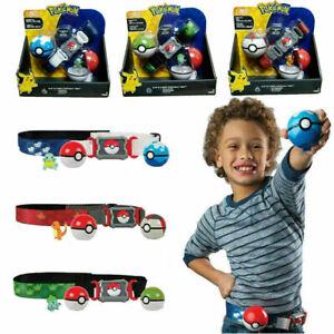 2x PokeBall +1x Spielfiguren Gürtel Clip N GO Carry Cross Belt Spielzeug