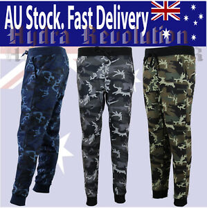 Trackpants, Jogger, Camo, Camouflage, Gym Gear, Fleece, Fast Shipping, AU Stock.