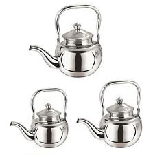 Stainless Steel Teapot Coffee Pot Traditional Tea Serving Pot Kitchen 3/5/8Cup