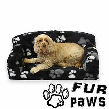 Designer Fur Paws Dog Bed / Pet Sofa in Luxurious Faux Fur 3 Sizes Available