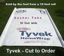 10ft UL Hiking Backpacking Tyvek Ground Sheet Tent Footprint Tarp w/Anchor loops