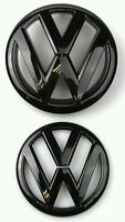 Gloss Black Front Grille Rear trunk Lid VW Emblem Badge Replacement For GOLF MK6