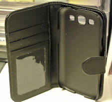 Wallet Card Money Case Cover for Samsung Galaxy S3 i9300 i9305 Leather Black