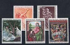 France 5 timbres non oblitérés gomme**  7  Art  peintures - sculptures