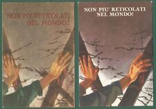 """MORBIDUCCI PUBLIO. """"NON RETICOLATI NEL MONDO!"""". 2 cart. disegnate x l' A.N.E.I."""