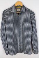 Camel Active Men Casual Shirt Regular Fit Grey Check Cotton size M