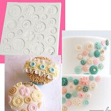 Button Flower Silicone Fondant Chocolate Mould Cake Decor Icing Sugarcraft Mold