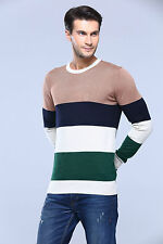 100% Cotton Men Crew Neck Vintage Jumper Casual Sweater Knitwear Pullover Top
