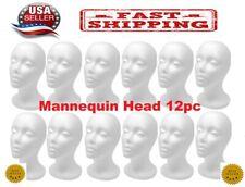 "12 Pcs 11""Styrofoam Foam Mannequin Head wig display-Us Seller-"