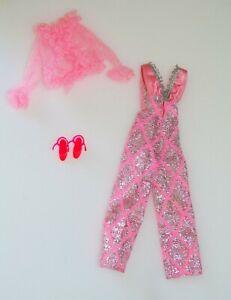 NM Vintage Barbie KEN BEST BUY 9624 1977 SUPERSTAR PINK JUMPSUIT STRAPPY SHOES