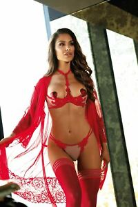 Axami Venetian Princess Push-up Shelf Bra Red